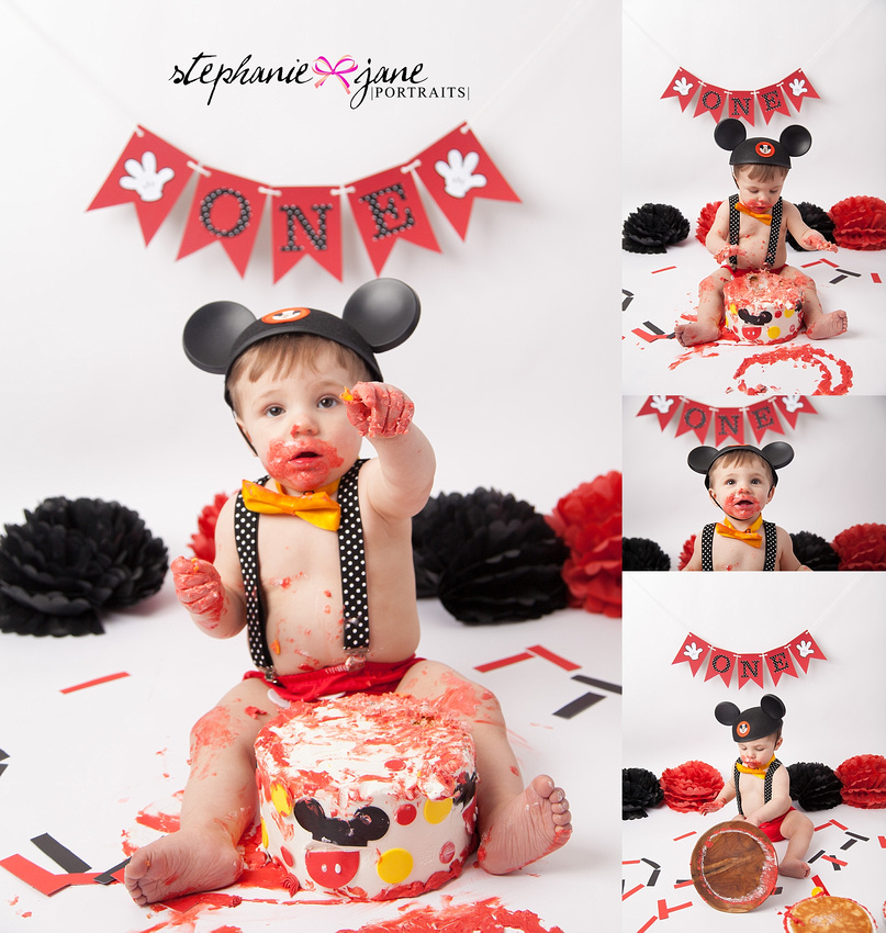 Mickey Mouse Smash Cake: Buffalo, NY Maternity, Newborn